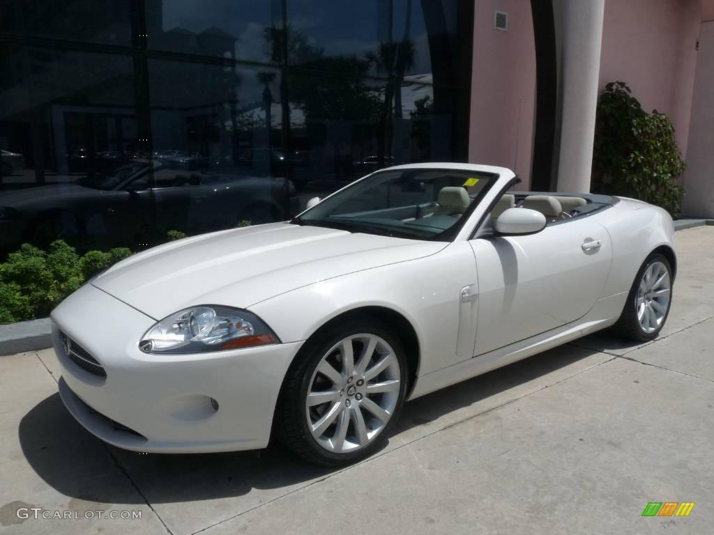 2007 porcelain white jaguar xk xk8 convertible 16836618. Black Bedroom Furniture Sets. Home Design Ideas