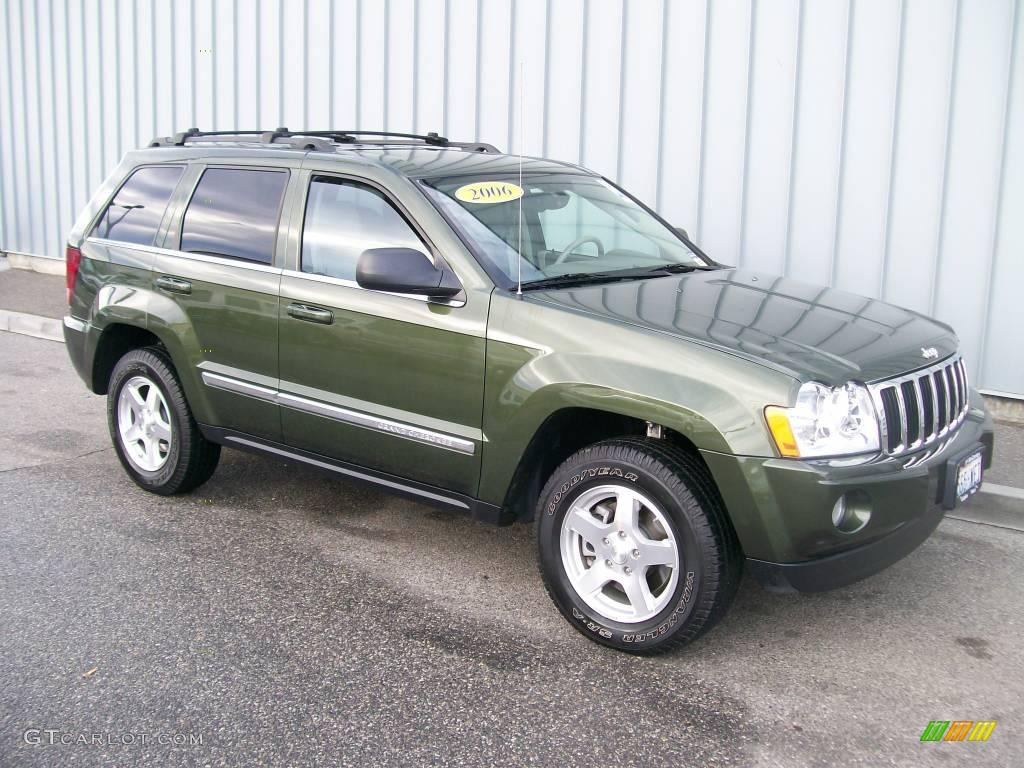 2006 Jeep Green Metallic Jeep Grand Cherokee Limited 4x4