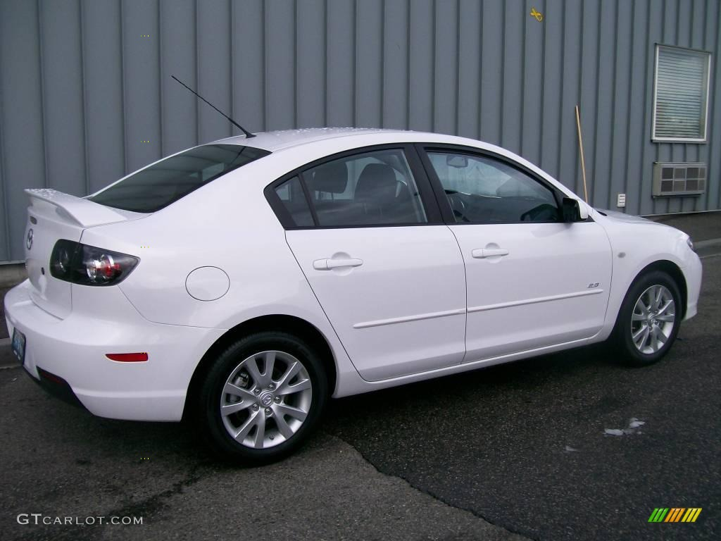 2008 crystal white pearl mica mazda mazda3 s sport sedan. Black Bedroom Furniture Sets. Home Design Ideas