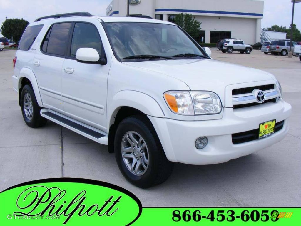 2006 natural white toyota sequoia limited 16904536 car color galleries. Black Bedroom Furniture Sets. Home Design Ideas