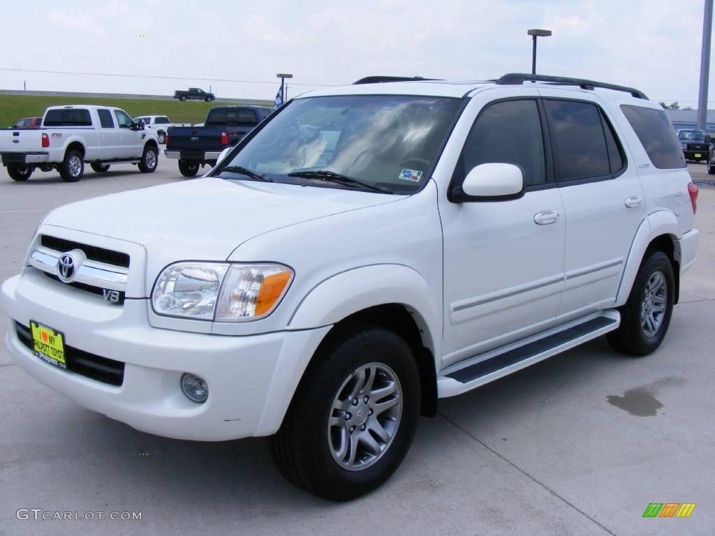 2006 natural white toyota sequoia limited 16904536 photo 7 car color galleries. Black Bedroom Furniture Sets. Home Design Ideas