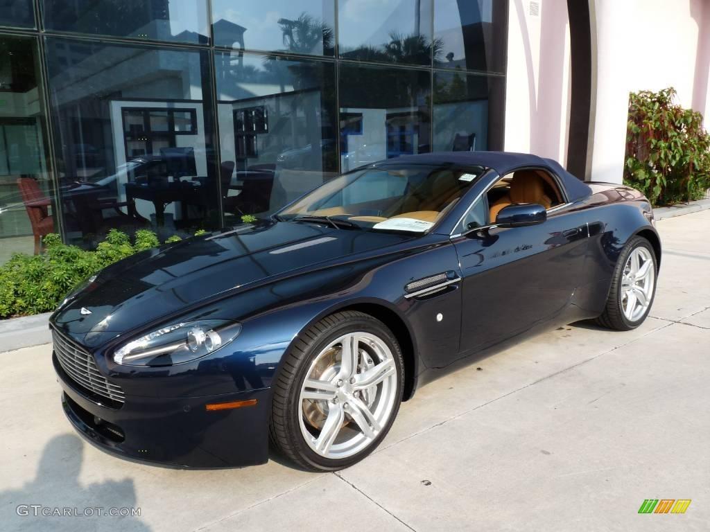 2009 Midnight Blue Aston Martin V8 Vantage Roadster
