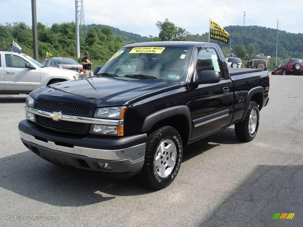 2005 black chevrolet silverado 1500 z71 regular cab 4x4 16899889 photo 6 car. Black Bedroom Furniture Sets. Home Design Ideas
