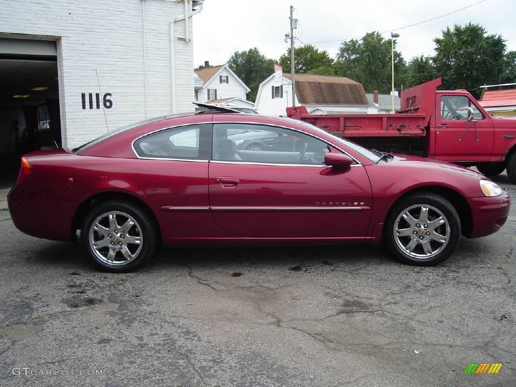 2001 Dark Garnet Red Pearlcoat Chrysler Sebring Lxi Coupe
