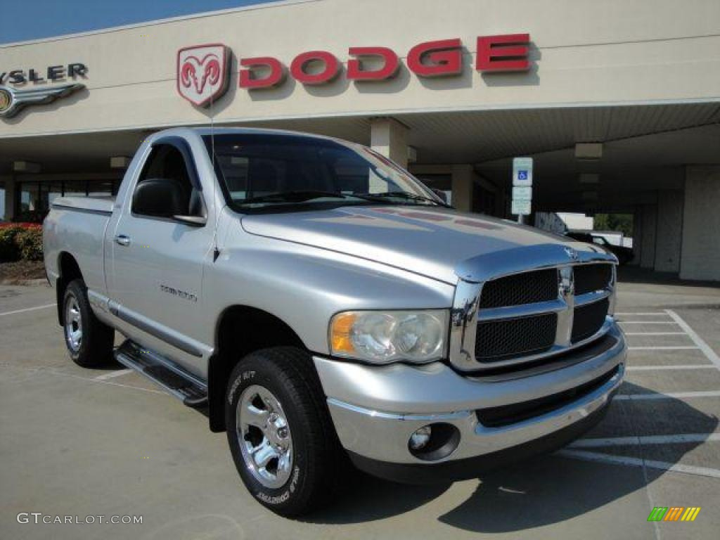 2002 Ram 1500 SLT Regular Cab 4x4 - Bright Silver Metallic / Dark Slate Gray photo #1