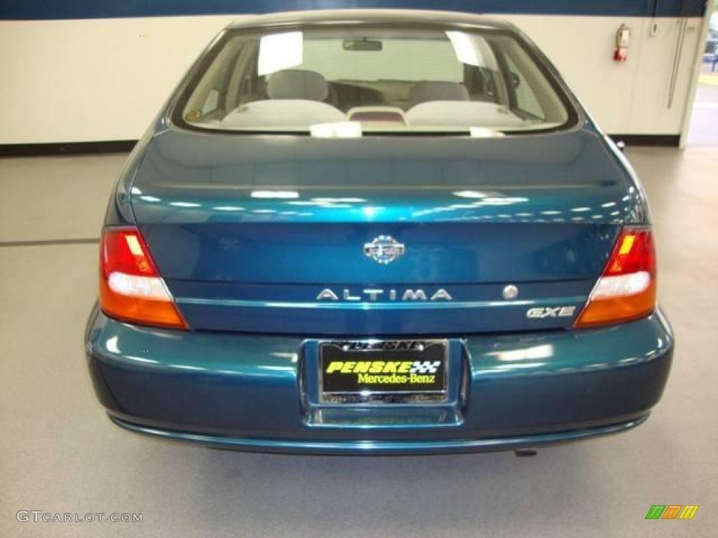 1999 blue emerald metallic nissan altima gxe #16908186 photo #5
