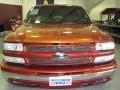 2001 Sunset Orange Metallic Chevrolet Silverado 1500 LS Extended Cab 4x4  photo #3