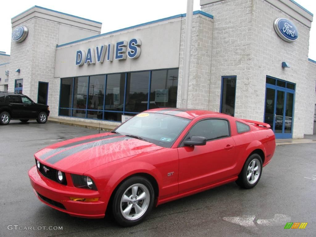 2007 Mustang GT Premium Coupe - Torch Red / Dark Charcoal photo #1