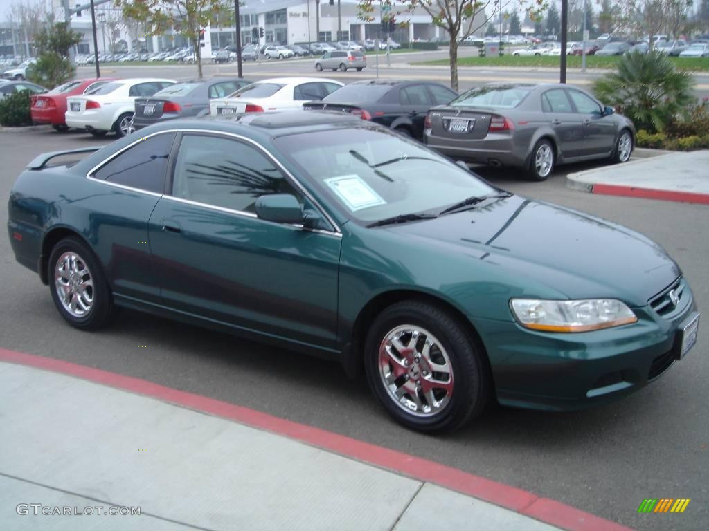 2002 noble green pearl honda accord ex v6 coupe 1703820 photo 3 car color. Black Bedroom Furniture Sets. Home Design Ideas