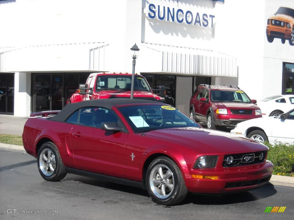 2006 Mustang V6 Premium Convertible - Redfire Metallic / Dark Charcoal photo #1