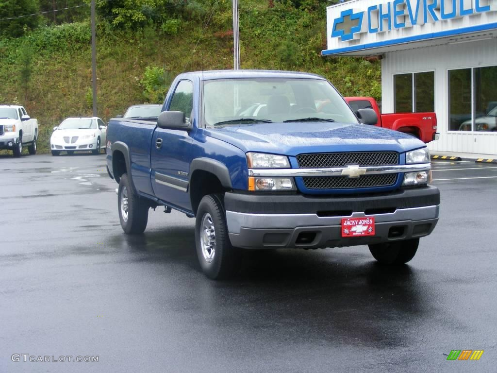 2004 arrival blue metallic chevrolet silverado 2500hd ls regular cab 4x4 17052354 photo 2. Black Bedroom Furniture Sets. Home Design Ideas