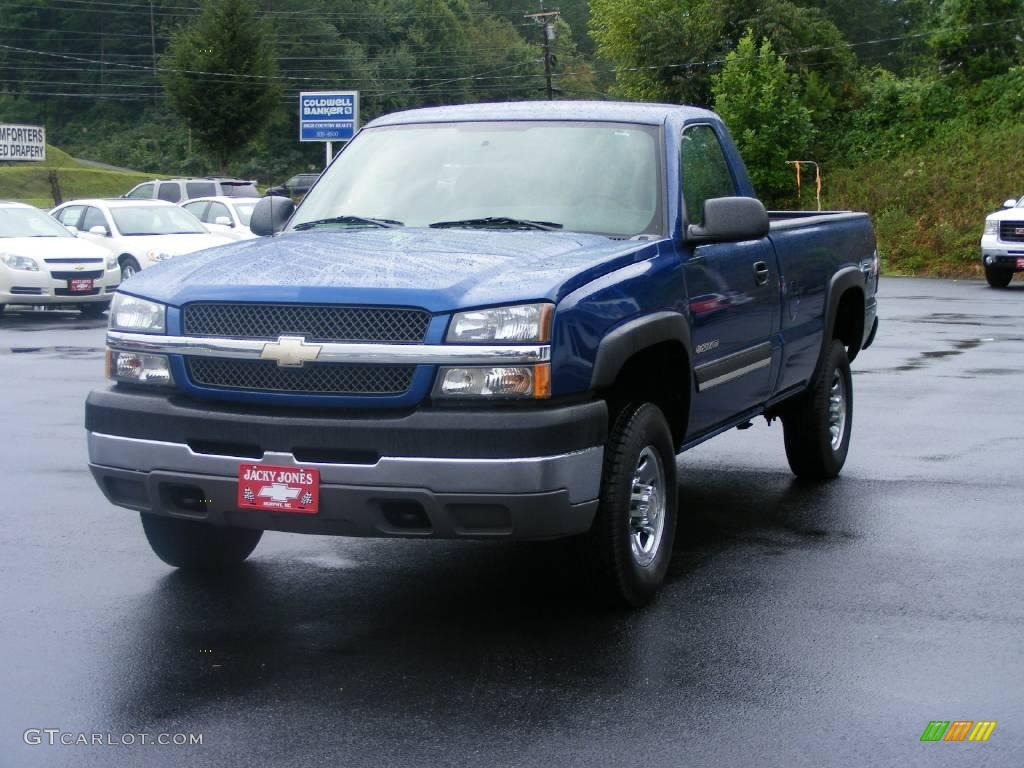 2004 arrival blue metallic chevrolet silverado 2500hd ls regular cab 4x4 17052354 photo 4. Black Bedroom Furniture Sets. Home Design Ideas