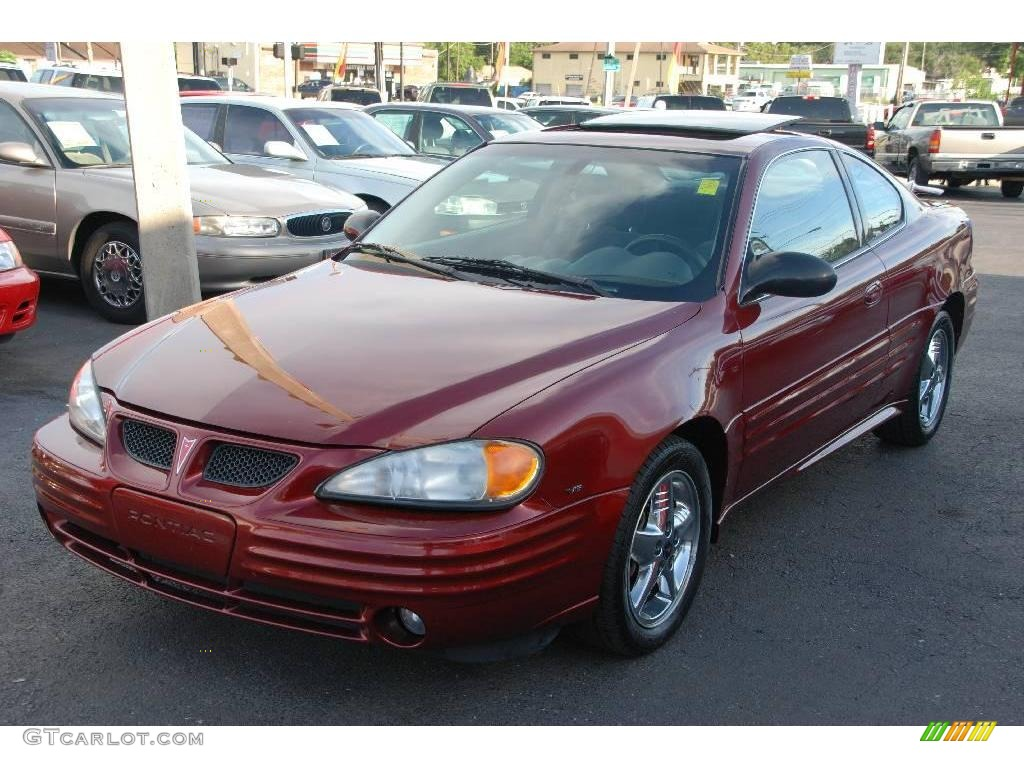 2002 redfire metallic pontiac grand am se coupe 17050418. Black Bedroom Furniture Sets. Home Design Ideas