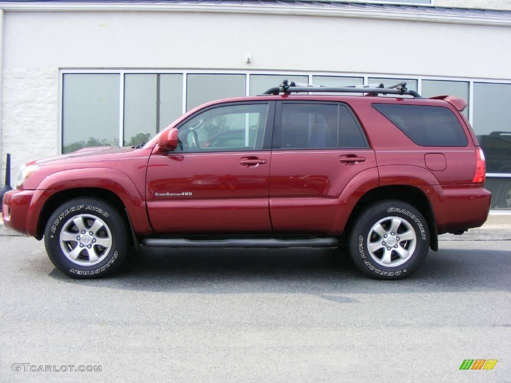 2007 Salsa Red Pearl Toyota 4runner Sport Edition 4x4 17048677 Photo 6 Gtcarlot Com Car Color Galleries