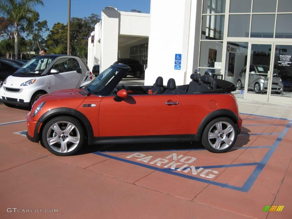 2006 Cooper S Convertible Hot Orange Metallic Black Photo 4