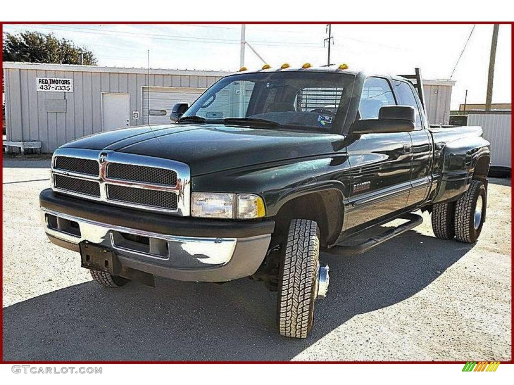 2001 Forest Green Pearl Dodge Ram 3500 Slt Quad Cab 4x4