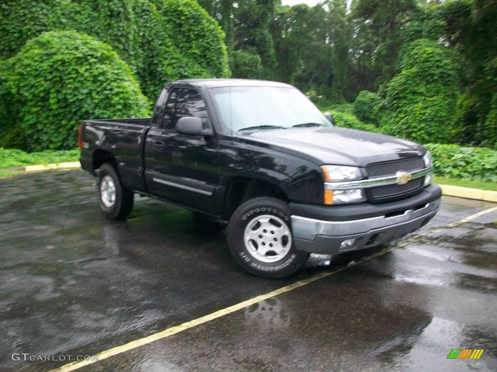 2003 black chevrolet silverado 1500 ls regular cab 4x4. Black Bedroom Furniture Sets. Home Design Ideas