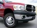 2007 Inferno Red Crystal Pearl Dodge Ram 3500 SLT Quad Cab Chassis  photo #2