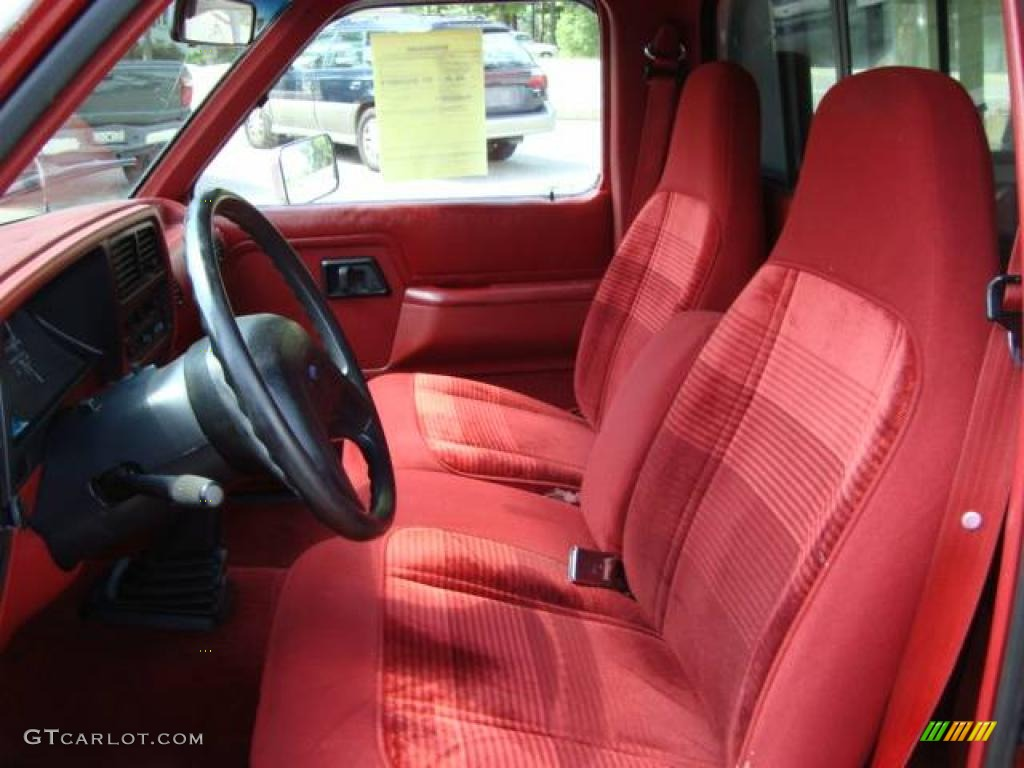 1992 medium cabernet red metallic ford ranger xlt regular. Black Bedroom Furniture Sets. Home Design Ideas