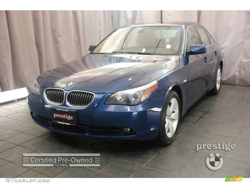 2007 mystic blue metallic bmw 5 series 530xi sedan #17099388