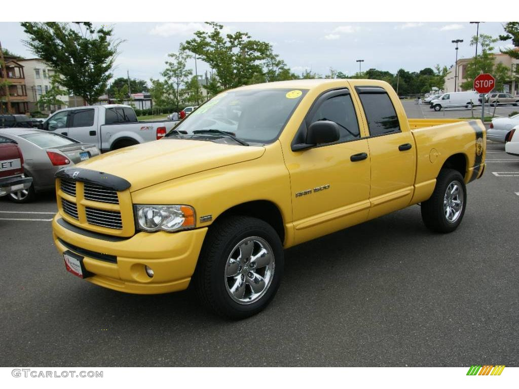 2005 solar yellow dodge ram 1500 slt rumble bee quad cab. Black Bedroom Furniture Sets. Home Design Ideas