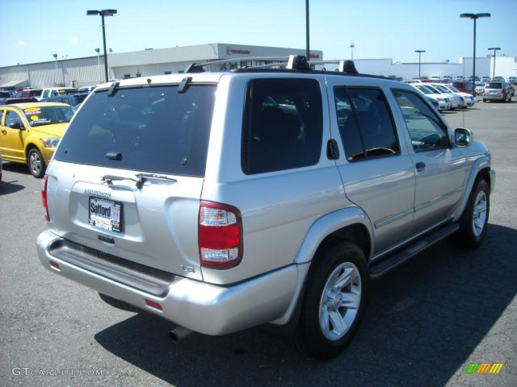 2003 pathfinder le 4x4 chrome silver metallic charcoal photo 3