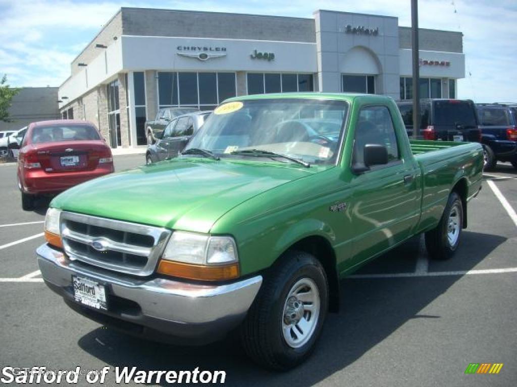 1999 jalapeno green metallic ford ranger xlt regular cab. Black Bedroom Furniture Sets. Home Design Ideas