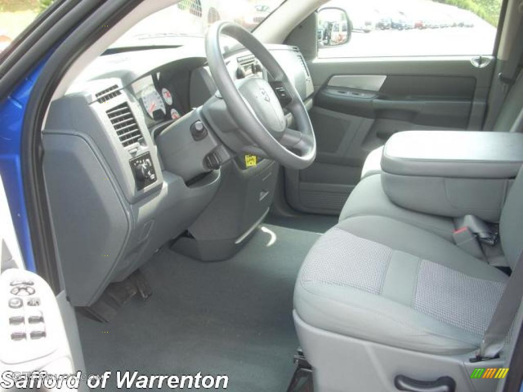2007 Electric Blue Pearl Dodge Ram 1500 Big Horn Edition Quad Cab 4x4 17172016 Photo 8