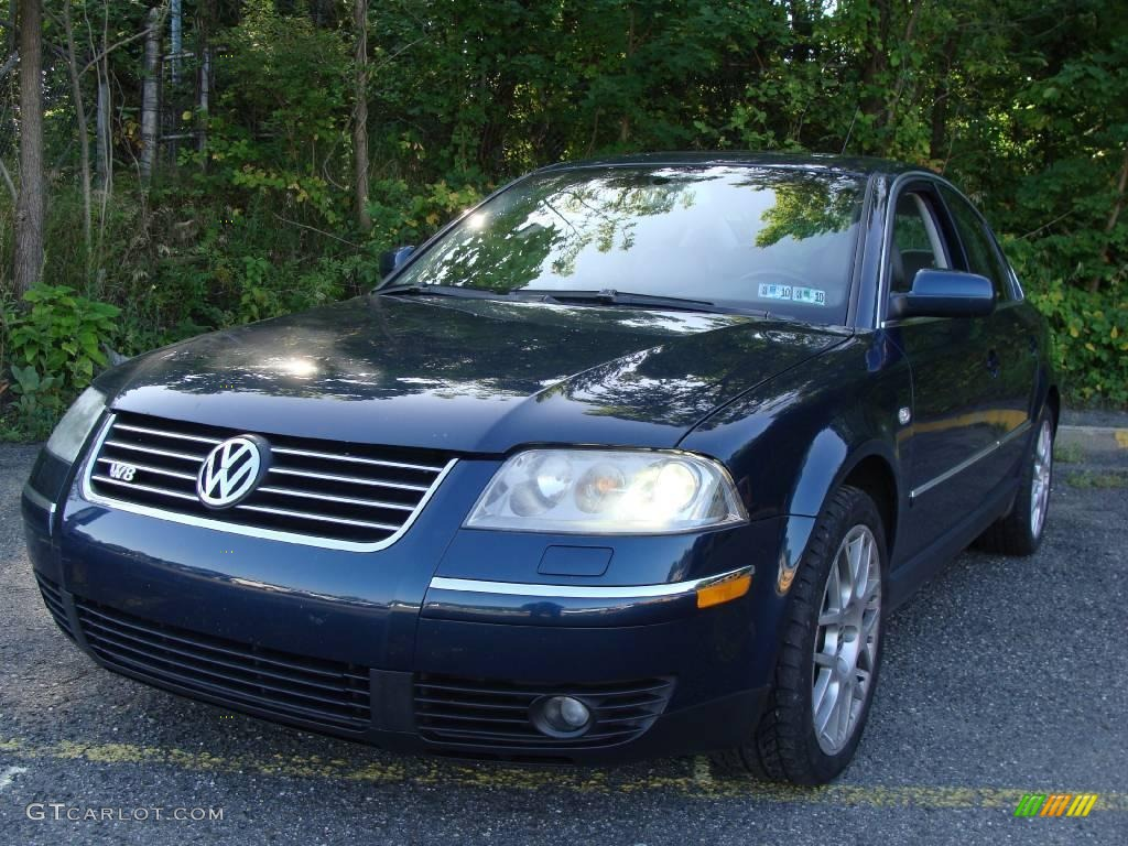2004 shadow blue metallic volkswagen passat w8 4motion sedan 17195262 car. Black Bedroom Furniture Sets. Home Design Ideas