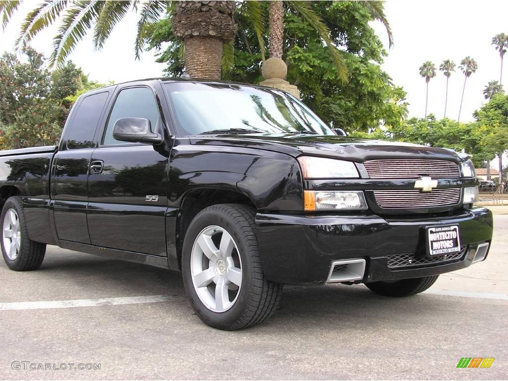 2003 black chevrolet silverado 1500 ss extended cab awd. Black Bedroom Furniture Sets. Home Design Ideas