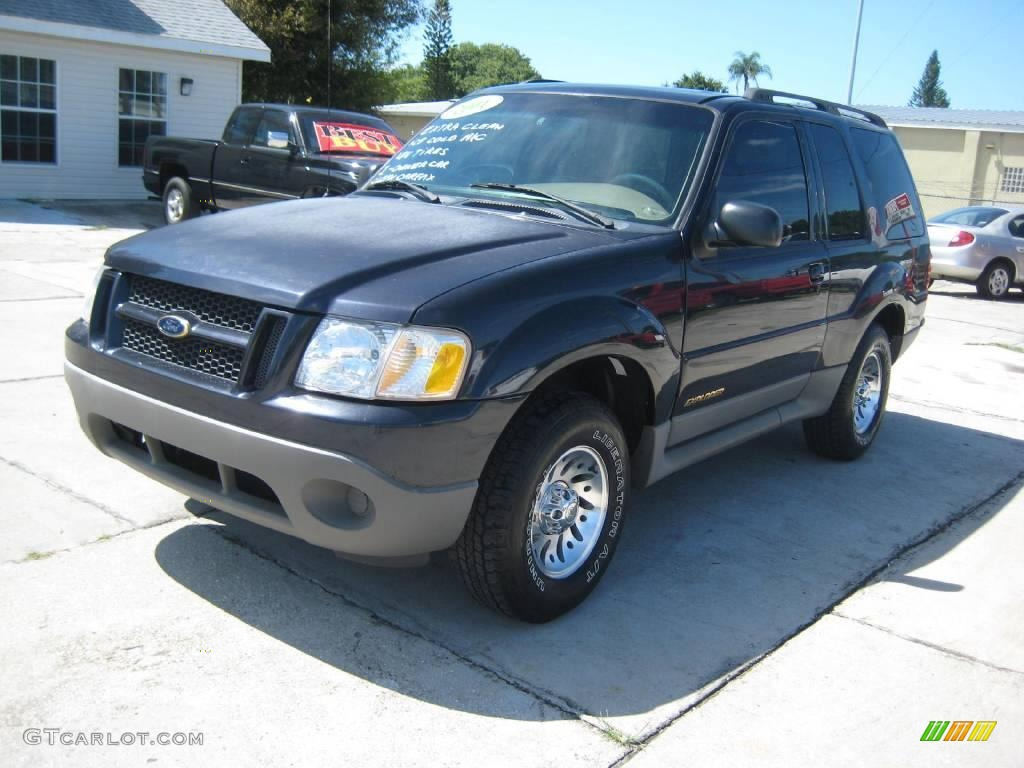 Deep wedgewood blue metallic ford explorer