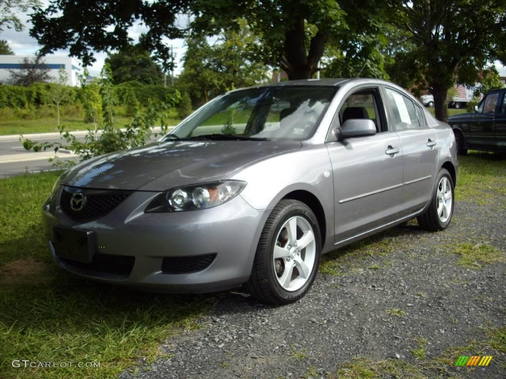 2006 titanium gray metallic mazda mazda3 i sedan 17192638. Black Bedroom Furniture Sets. Home Design Ideas