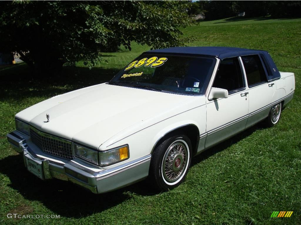1990 white cadillac fleetwood sedan 17181692 photo 5. Cars Review. Best American Auto & Cars Review