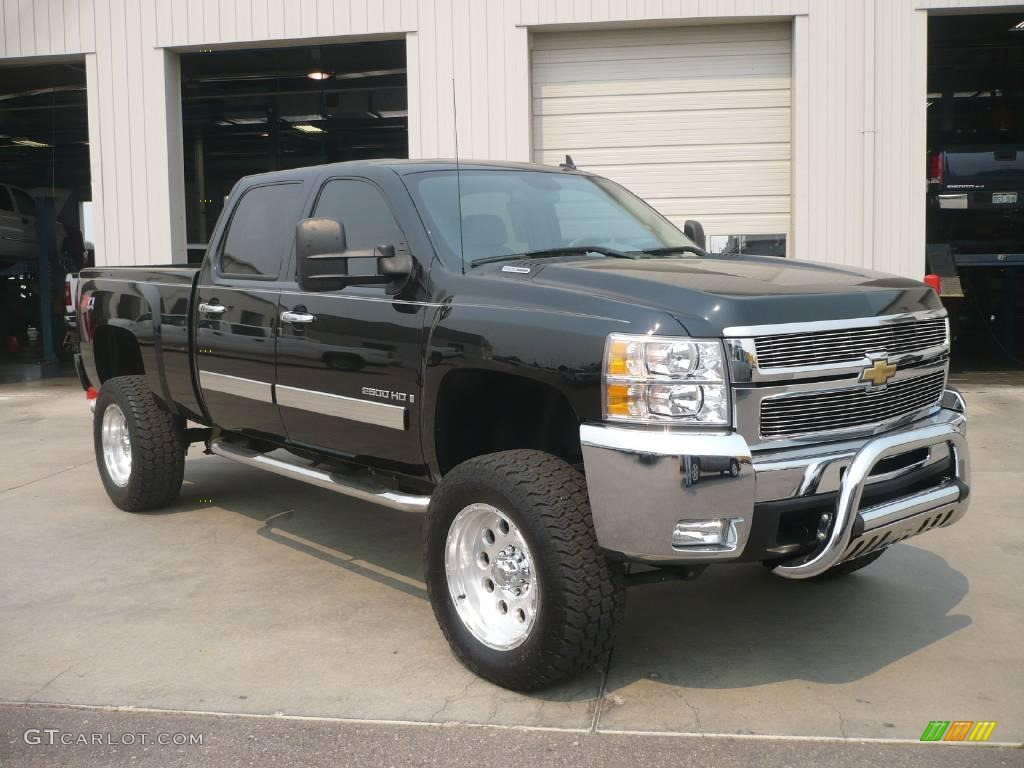 2007 black chevrolet silverado 2500hd ltz crew cab 4x4. Black Bedroom Furniture Sets. Home Design Ideas