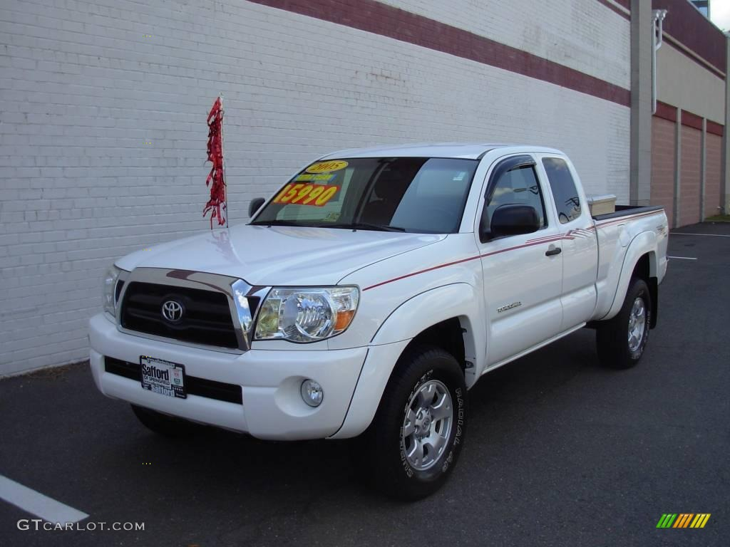 2005 super white toyota tacoma prerunner trd access cab. Black Bedroom Furniture Sets. Home Design Ideas