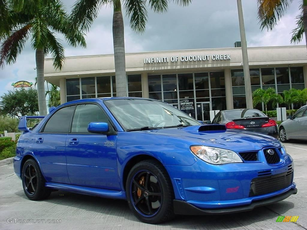2007 impreza wrx sti wr blue pearl blue alcantara photo 1