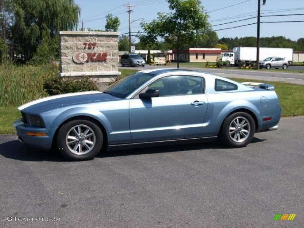2005 windveil blue metallic ford mustang v6 premium coupe 17263725 car color. Black Bedroom Furniture Sets. Home Design Ideas