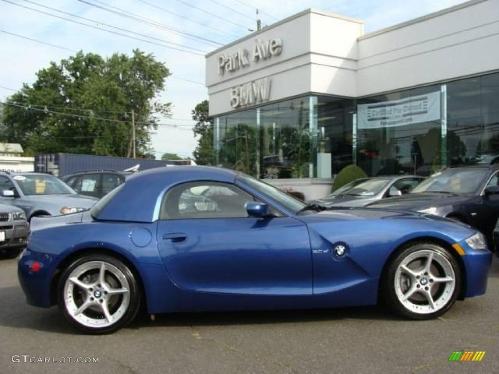 2006 montego blue metallic bmw z4 3.0si roadster #17317417