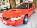 2000 Performance Red Ford Mustang V6 Coupe  photo #1