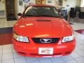 2000 Performance Red Ford Mustang V6 Coupe  photo #8