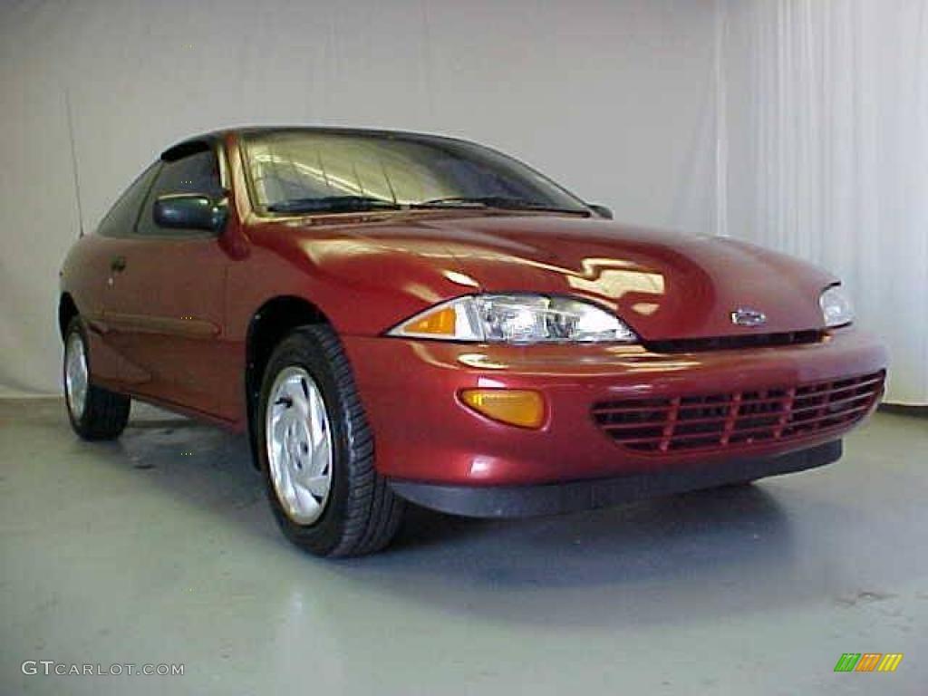 1999 Cavalier Coupe - Cayenne Red Metallic / Graphite photo #4
