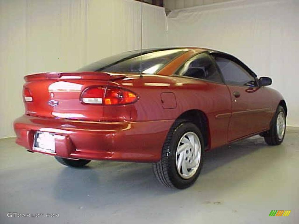 1999 Cavalier Coupe - Cayenne Red Metallic / Graphite photo #21