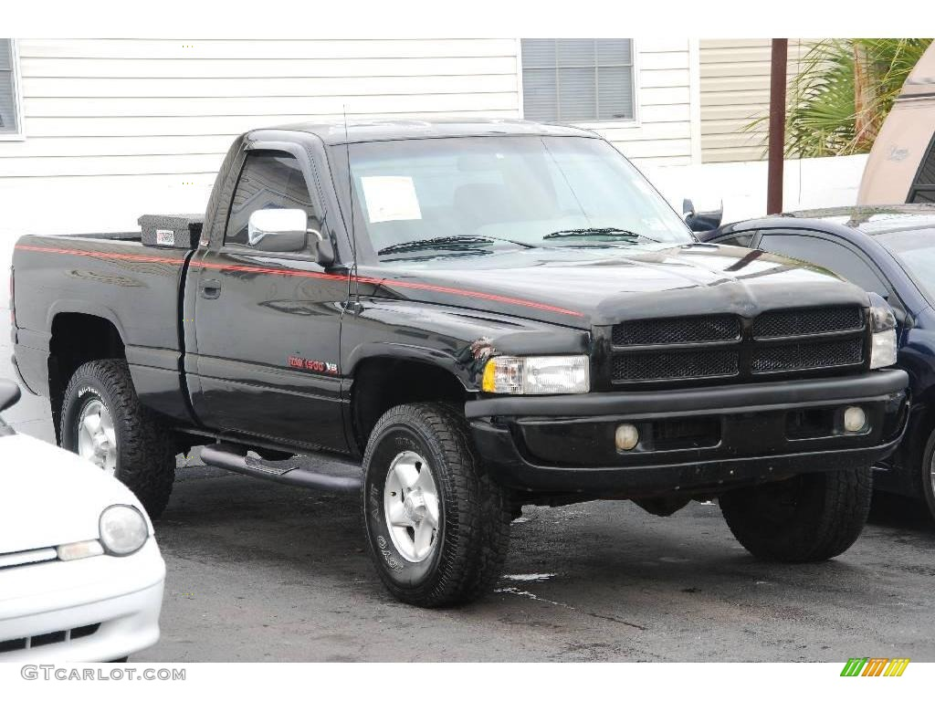 1996 black dodge ram 1500 slt regular cab 4x4 17328238 car color galleries. Black Bedroom Furniture Sets. Home Design Ideas