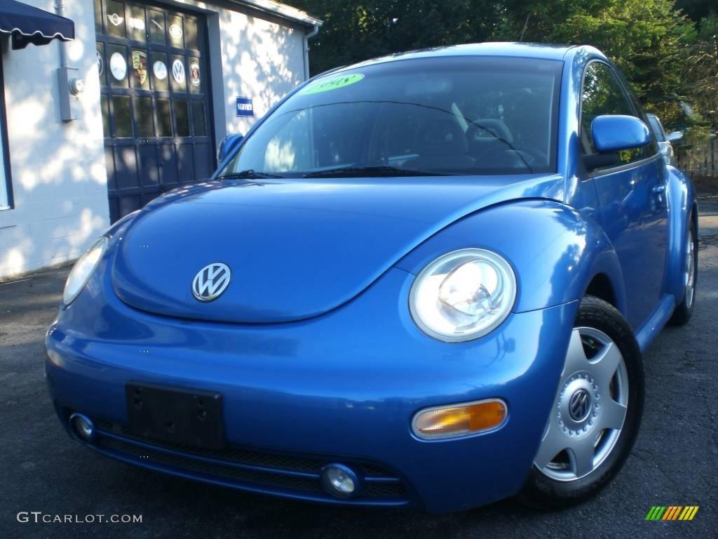 1998 techno blue metallic volkswagen new beetle 2 0 coupe 17322465 car color. Black Bedroom Furniture Sets. Home Design Ideas