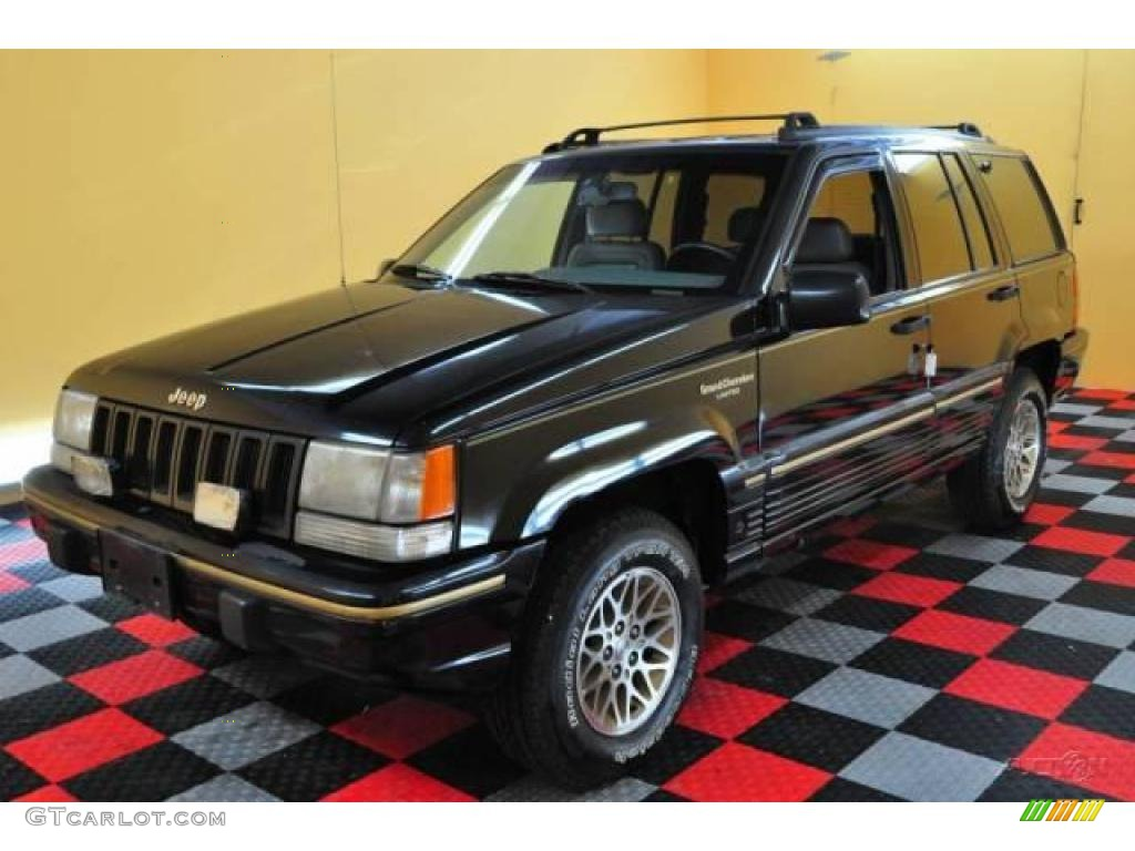 Delightful 1994 Grand Cherokee Limited 4x4   Black / Gray Photo #3