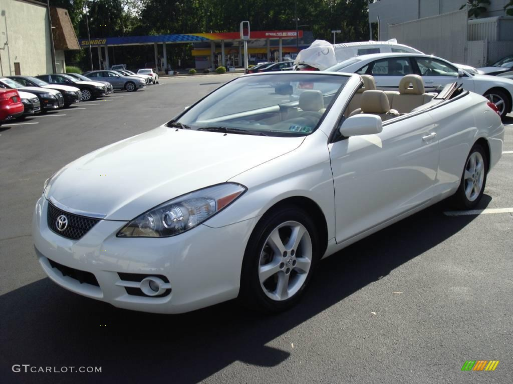 2007 blizzard white pearl toyota solara sle v6 convertible 17325324 car color. Black Bedroom Furniture Sets. Home Design Ideas
