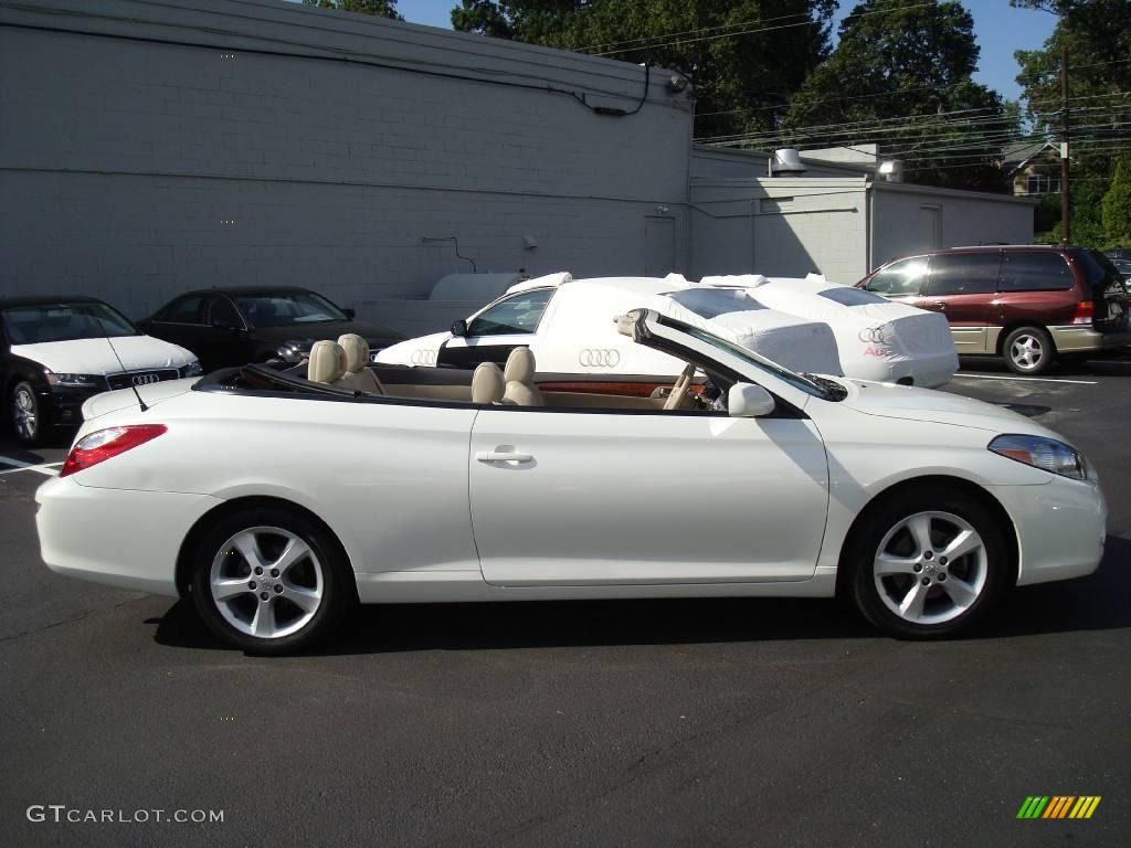 2007 blizzard white pearl toyota solara sle v6 convertible 17325324 photo 6. Black Bedroom Furniture Sets. Home Design Ideas