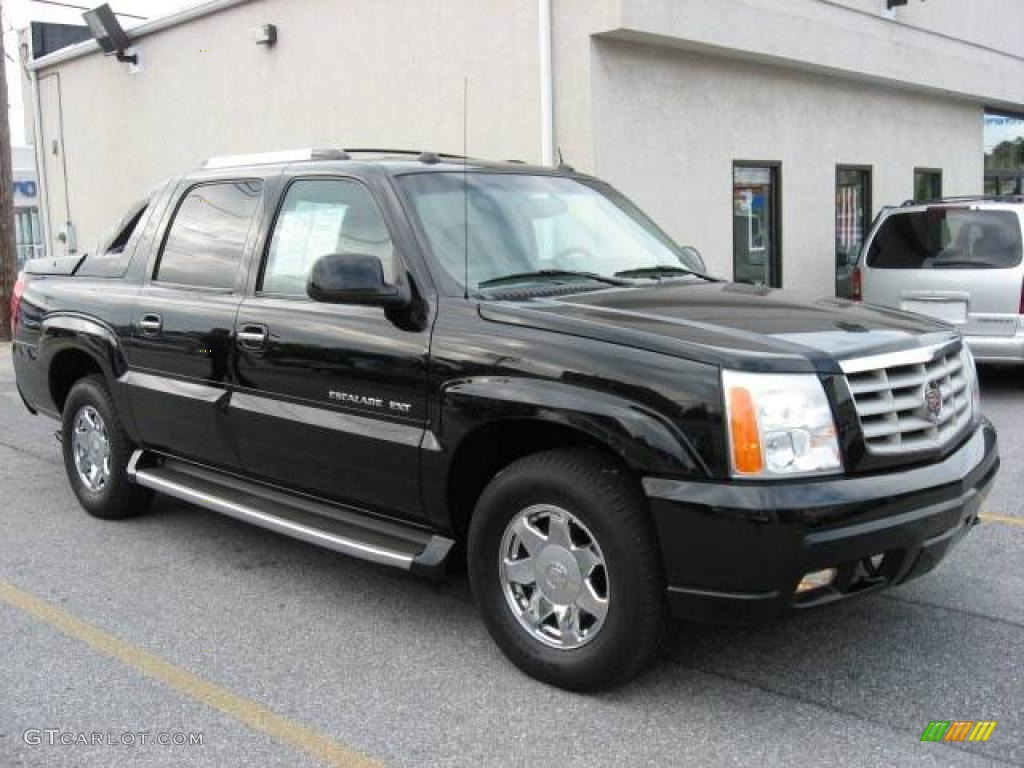 2004 escalade ext awd black raven shale photo 1