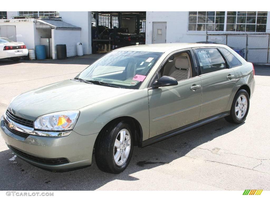 2005 silver green metallic chevrolet malibu maxx ls wagon. Black Bedroom Furniture Sets. Home Design Ideas