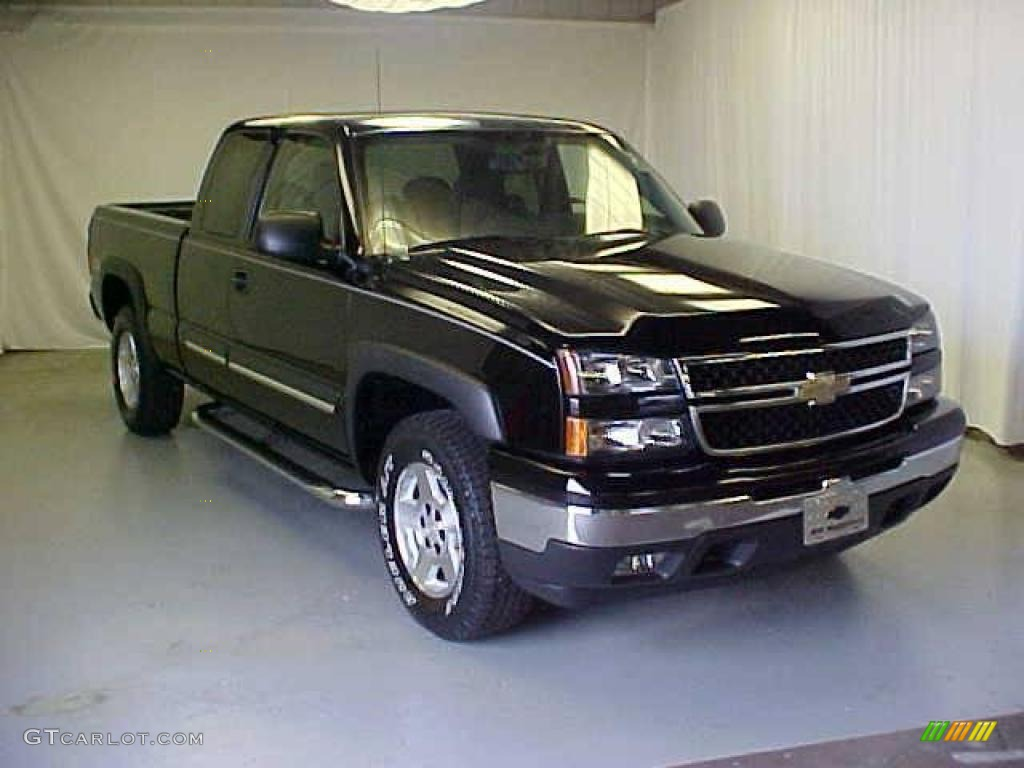 2007 black chevrolet silverado 1500 classic z71 extended cab 4x4 17413905 car. Black Bedroom Furniture Sets. Home Design Ideas